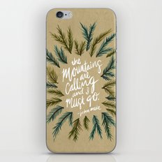 Mountains Calling – Kraft iPhone & iPod Skin