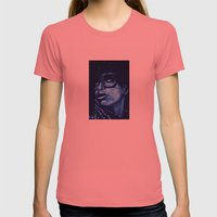 badu?!-blue Womens Fitted Tee Pomegranate SMALL
