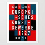 EUROPÄISCHES KUNSTGEWER… Art Print