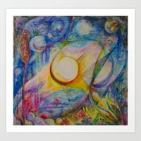 Orbs In Motion Art Print