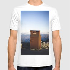 Miles high trash can Mens Fitted Tee White SMALL