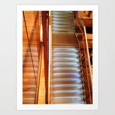 Lighting stairs Art Print
