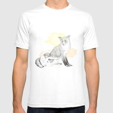 girl and fox White SMALL Mens Fitted Tee