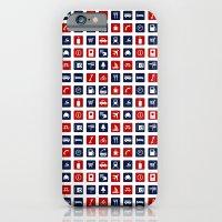 Travel Icons in RWB iPhone 6 Slim Case