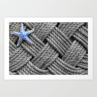 Starfish on the Ropes Art Print