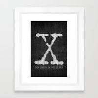 X-Files Poster Framed Art Print
