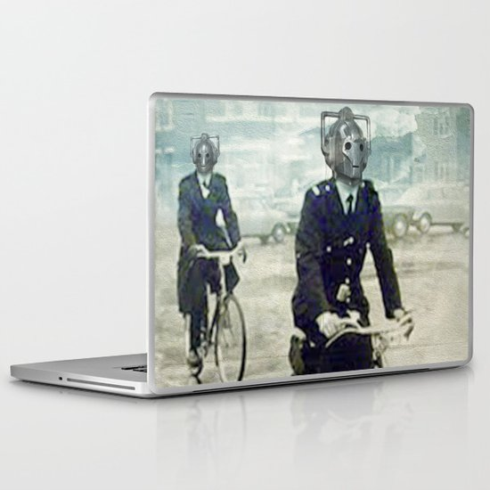 Cybermen on bikes Laptop & iPad Skin