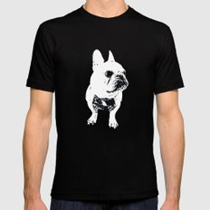 George the cutest French Bulldog SMALL Black Mens Fitted Tee