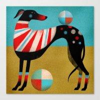 RACE DOG Canvas Print