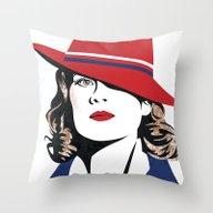Peggy Carter Throw Pillow
