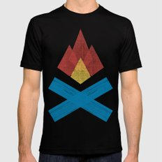 Campfire SMALL Mens Fitted Tee Black