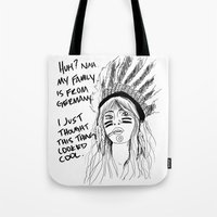 Attention Whore - BW Tote Bag