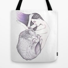 Sleeping Wolves Tote Bag