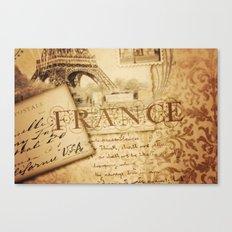 I ♥ France Canvas Print