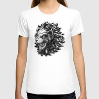 lion T-shirts featuring Lion by BIOWORKZ