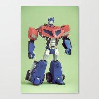 Optimus Prime (Animated) Canvas Print