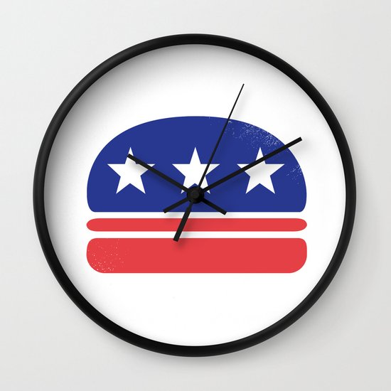I Vote for Burger! Wall Clock