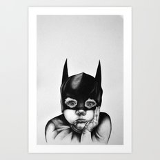 Waiting For A Hero (Bat … Art Print