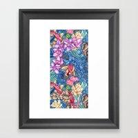 Orchid Splash Framed Art Print