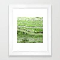 Mystic Stone - Grassy Framed Art Print