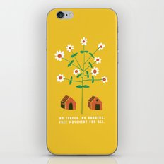 No Fences. No Borders. Free Movement For All.  iPhone & iPod Skin