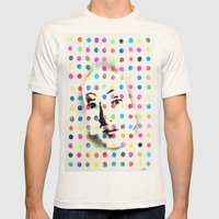 VENUS IN HIRSTIAN DOTS Mens Fitted Tee Natural SMALL