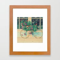 Summer Bicycle Framed Art Print
