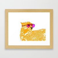 Cheetah With Sunglasses … Framed Art Print