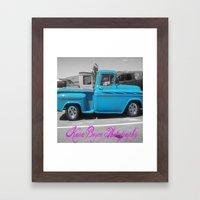 Blue Vintage Framed Art Print
