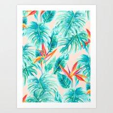 Tropical Paradise Pale Peach Art Print