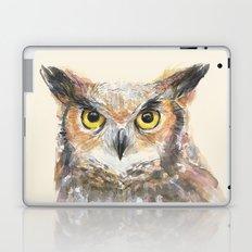 Great Horned Owl Watercolor Laptop & iPad Skin