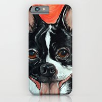 iPhone & iPod Case featuring Boston Terrier Dog Art by WOOF Factory