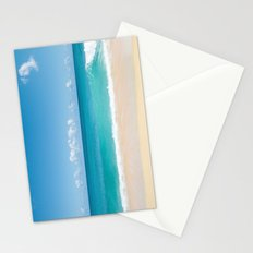 Turquoise wave Stationery Cards