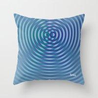 SoundWaves Teal/Indigo Throw Pillow