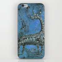 Antelope In Blue iPhone & iPod Skin