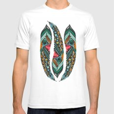 Peacock  Mens Fitted Tee SMALL White