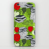 Owls and rose. iPhone & iPod Skin
