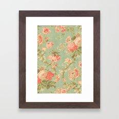 Vintage Flowers - for iphone Framed Art Print