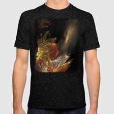 Dragon With Staircase Mens Fitted Tee Tri-Black SMALL