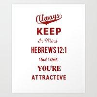 Hebrews 12:1 Art Print