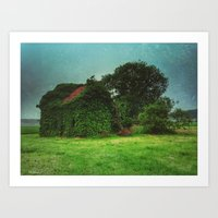 house with ghosts  Art Print