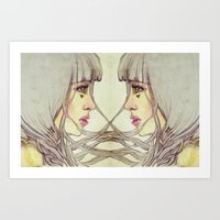 Twins Entwined Art Print