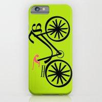 iPhone & iPod Case featuring bicitecleando by Golosinavisual