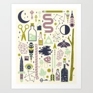 Art Print featuring The Witch's Collection by LordofMasks