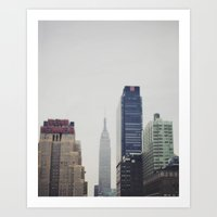 Impressions Of A City Art Print
