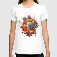 rhinos stone Womens Fitted Tee White SMALL