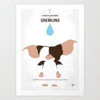 No451 My Gremlin Minimal… Art Print