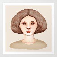 Café Lady Art Print