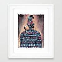 Madame Librarian Framed Art Print