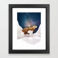The Armored Bear Framed Art Print